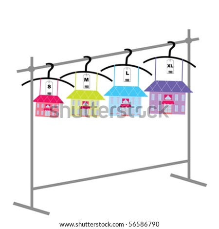 Real estate advertising - stock vector