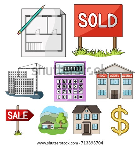 Real Estate Agency Other Attributes Realtor Stock Vector Hd Royalty