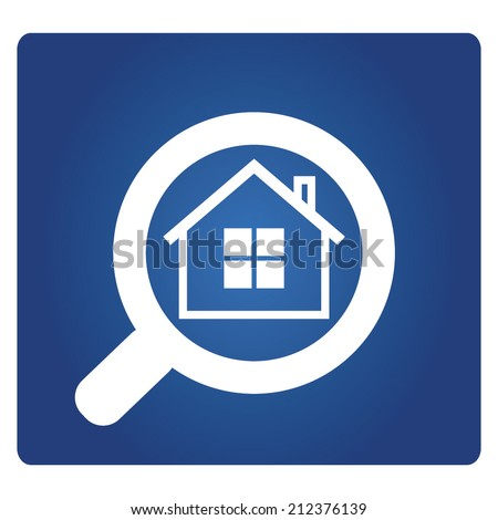 real estate agent, real estate concept with magnifying glass  - stock vector