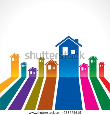 Real Estate background for sale property concept stock vector - stock vector