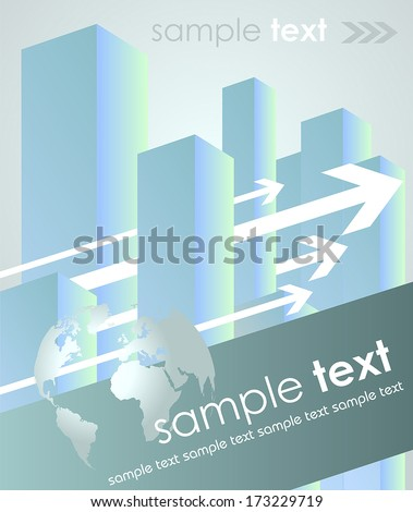Real estate, business and office abstract concept - vector illustration - stock vector