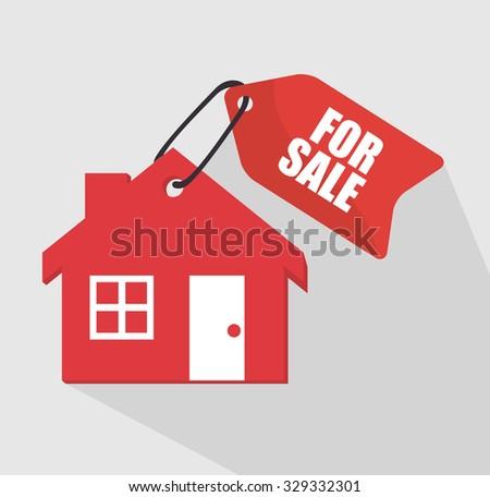Real estate business graphic design, vector illustration. - stock vector