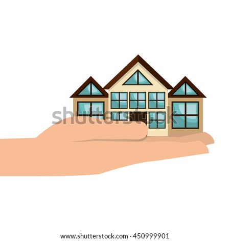 Real estate business isolated icon, vectorillustration graphic design. - stock vector