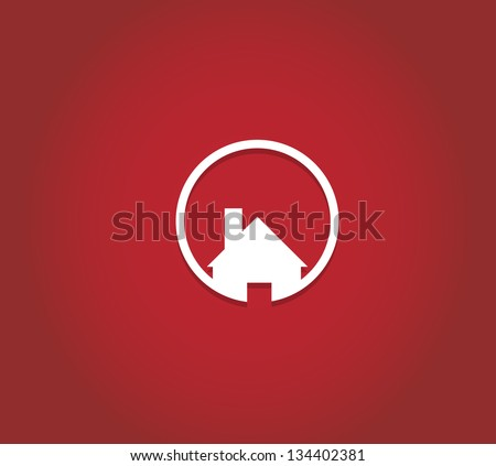 real estate city built house business background - stock vector