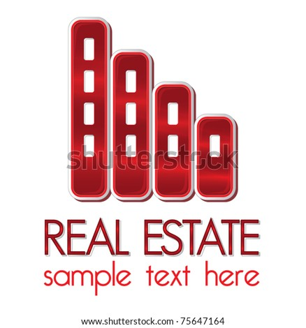 Real estate company design element, identity concept, vector illustration - stock vector