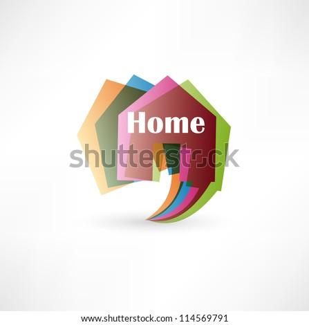 Real estate concept design element speech bubble - stock vector