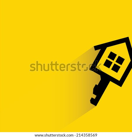 real estate concept, house key - stock vector