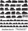 Real estate concept, houses and suburban silhouettes - stock vector