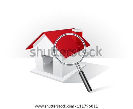 Real estate concept : search of home icons - stock vector