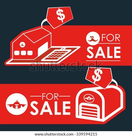 Real Estate concept with building design, vector illustration 10 eps graphic - stock vector