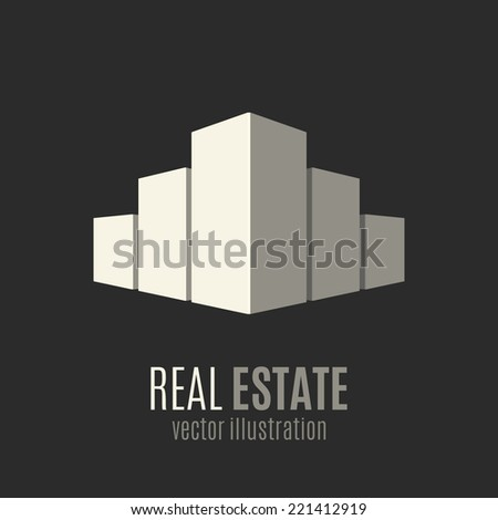 Real Estate Conceptual 3d Logo