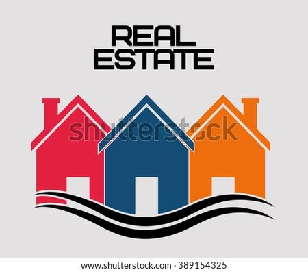 real estate design  - stock vector
