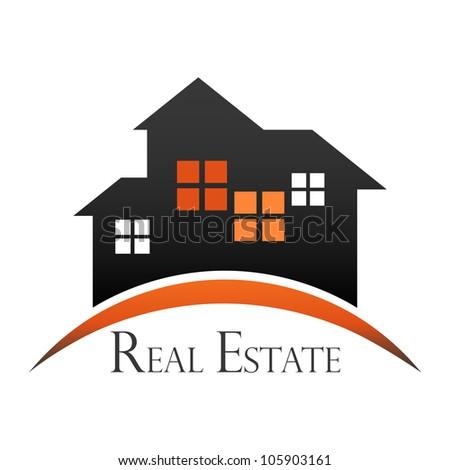 Real estate design concept - stock vector