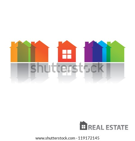 Real estate design. Vector concept - stock vector