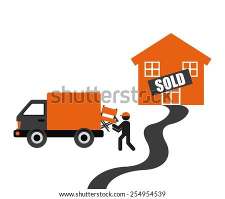 real estate design, vector illustration eps10 graphic  - stock vector