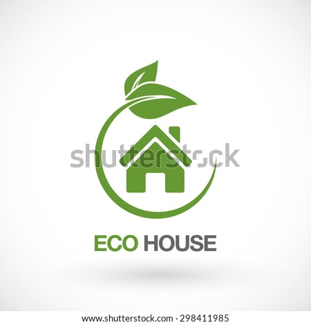 Real Estate, Eco House Logo design vector template. - stock vector