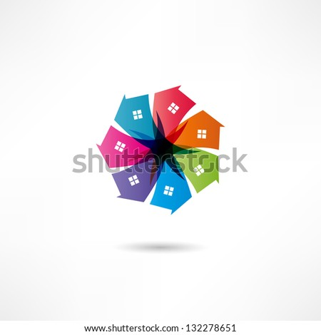 Real estate icon - stock vector