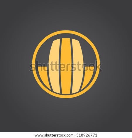Real estate icon; real property concept 2d vector, eps 8 - stock vector