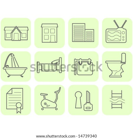 Real Estate icon set - stock vector