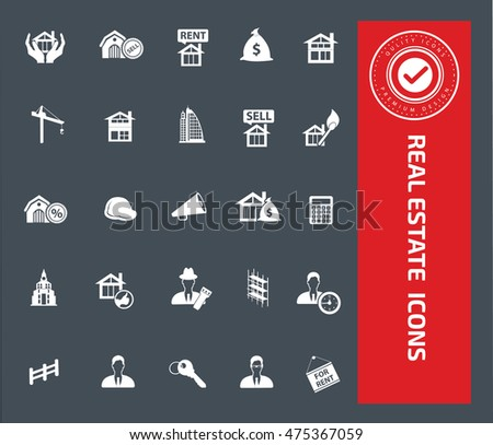 Real estate icon set,vector