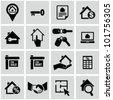 Real estate icons. - stock