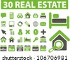 real estate icons set, vector - stock vector