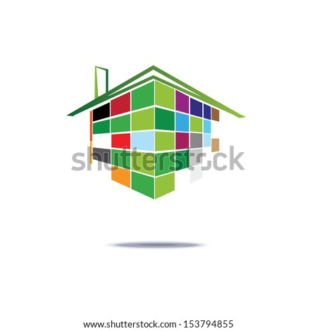 real estate identity symbol  - stock vector