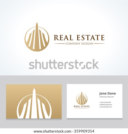 Real estate logo business card template em vetor stock 359909354 real estate logo and business card template reheart Gallery