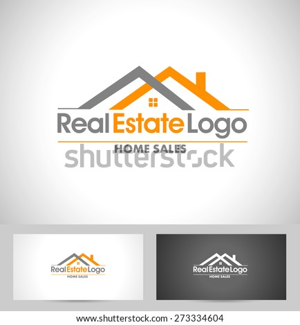 real estate logo design creative abstract ベクター画像素材 273334604