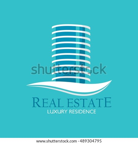 Real Estate Logo Design Template. Creative abstract real estate icon logo and business card template. Vector Illustration