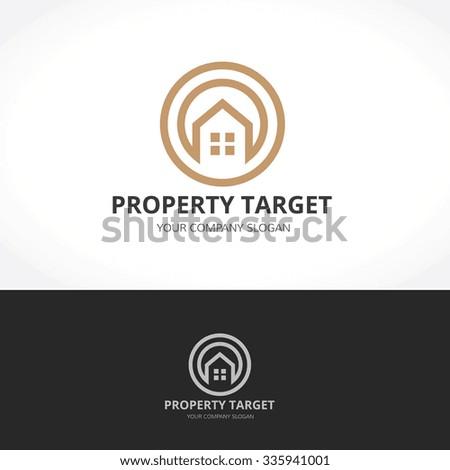 Real estate Logo,home logo,house logo,property logo,vector logo - stock vector