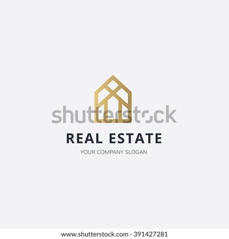 Real Estate logo,home logo,house logo,property logo,vector logo template - stock vector