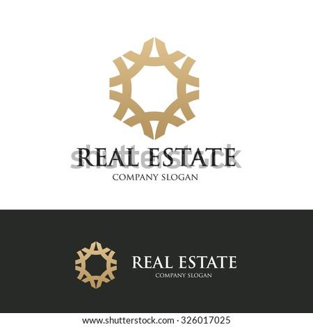 Real estate logo,property logo,place and hotel logo,vector logo template - stock vector
