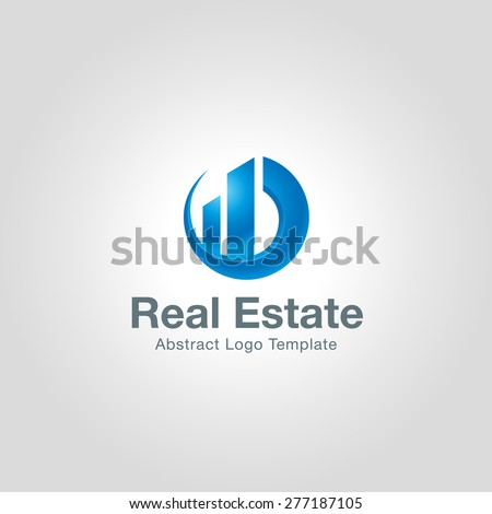Real Estate logo template. Corporate branding identity - stock vector