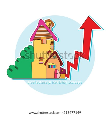 Real estate price rising concept. rent. sale of real estate