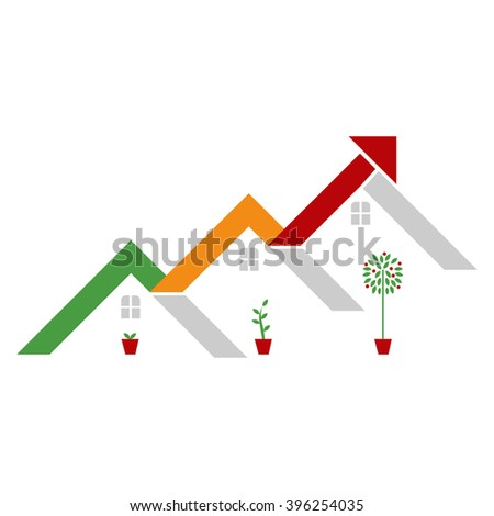 Real Estate - Property Investment - stock vector