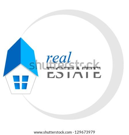 real estate sign - vector illustration - stock vector