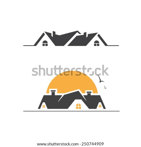 Real estate symbol house icon house symbol rent building icon real estate icon real estate symbol - stock vector