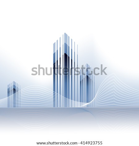Real estate vector background.  - stock vector