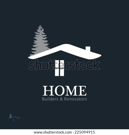 Real Estate Vector Icon. Business sign template for Real Estate, brokerage, building & renovation businesses. Visualization of business concept. Image may be used as web site or business card element. - stock vector