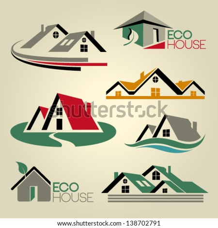 Real estate Vector Icons Set. Graphic Design Editable For Your Design. - stock vector
