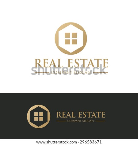 Real Estate  Vector Logo Symbol - stock vector