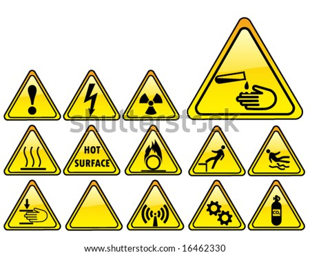 real hazards safety sign - part 3/4 - stock vector