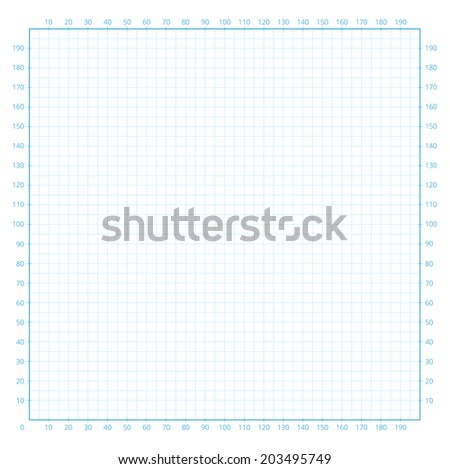 Real size vector grid engineering paper with scale - stock vector