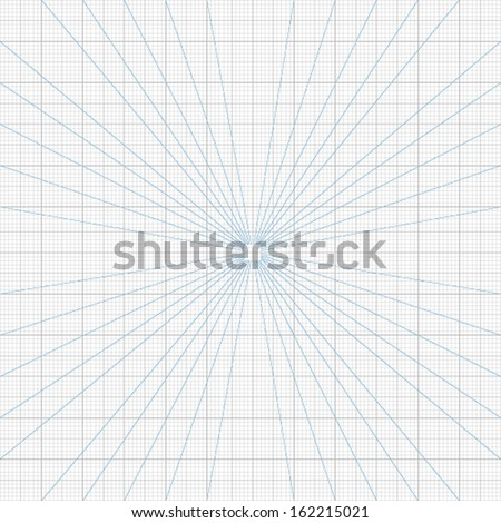 Real size vector perspective grids millimeter engineering paper - stock vector