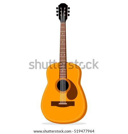 realistic acoustic guitar vector illustration isolated stock vector rh shutterstock com acoustic guitar vector free download acoustic guitar vector png