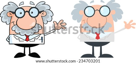 Realistic and Flat Design Professor. Vector Collection Set - stock vector
