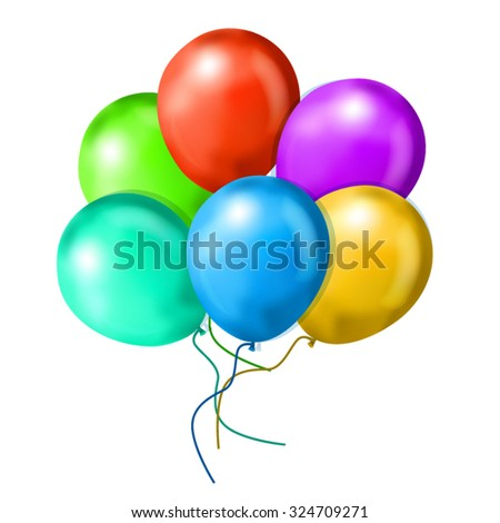Realistic Balloons - stock vector