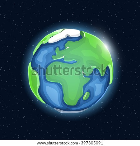 Realistic beautiful planet earth globe. Vector illustration - stock vector