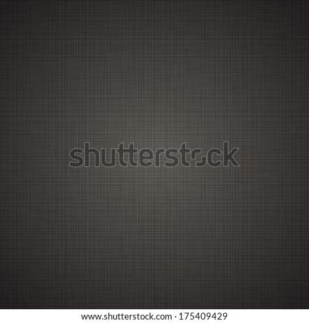 Realistic black linen texture pattern. Black seamless linen background texture. Seamless texture of black cloth. Vector illustration. Vector eps10.  - stock vector